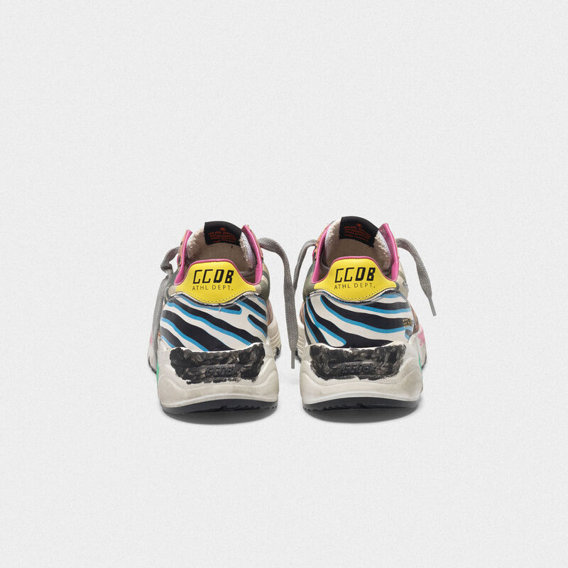 Golden Goose - Running Sole sneakers with mixed animal-print upper in  image number null