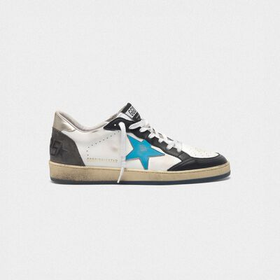 Sneakers Ball Star in pelle  con talloncino metallizzato