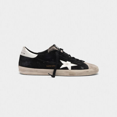 Superstar sneakers in two colours of suede with contrast star