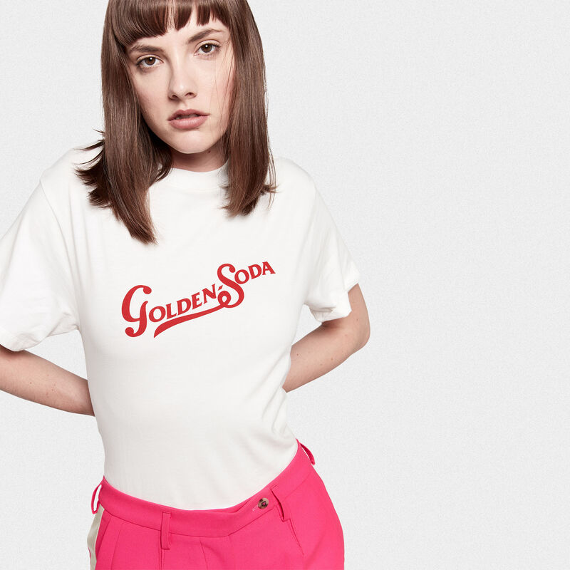 Golden Goose - Golden T-shirt with red Soda print in  image number null