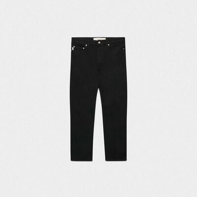 Lit slim fit jeans in stretch black cotton