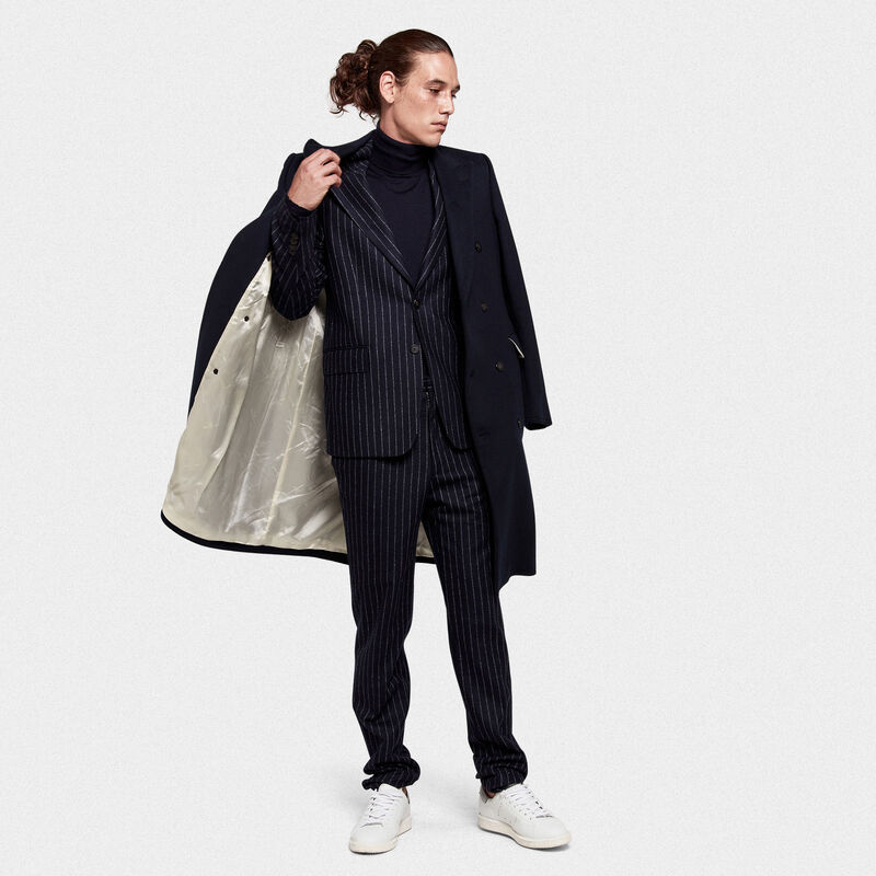 Golden Goose - Yukio double-breasted coat in wool blend  in  image number null