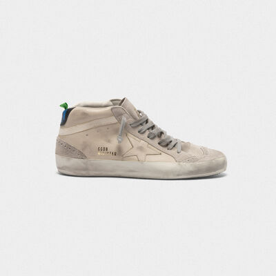 Sneakers Mid-Star in pelle liscia e suede