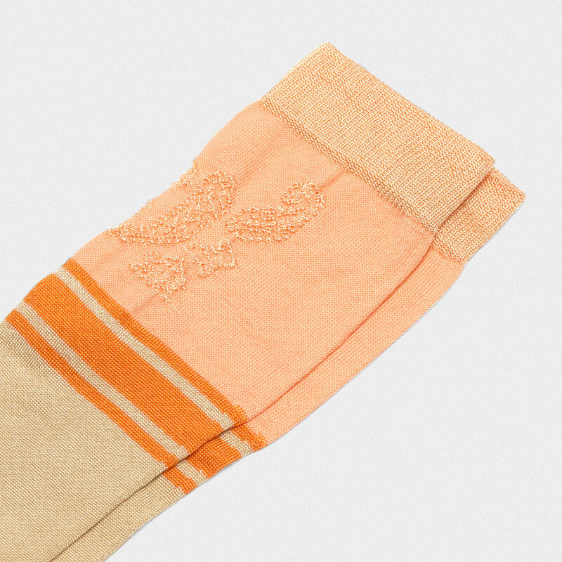 Golden Goose - Peach Addison socks with jacquard pattern in  image number null