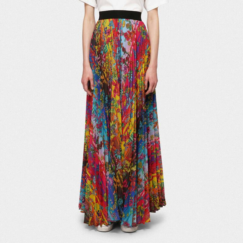 Golden Goose - Pleated Kimberly skirt with floral print in  image number null