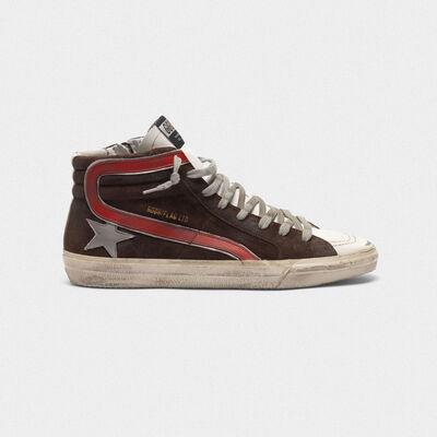 Sneakers Slide in suede con stella argentata