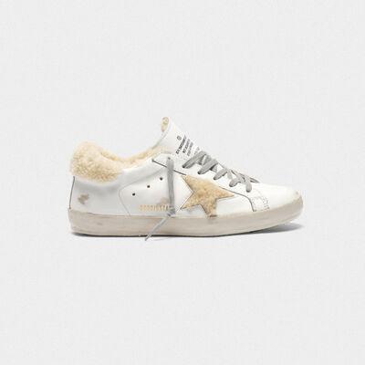 Sneakers Superstar con inserti in shearling
