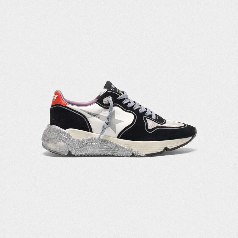 Golden Goose - Running Sole sneakers with glittery sole in  image number null