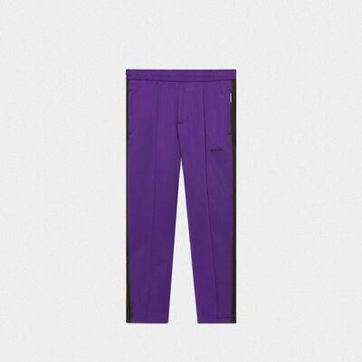 Purple Daniel joggers in technical knit