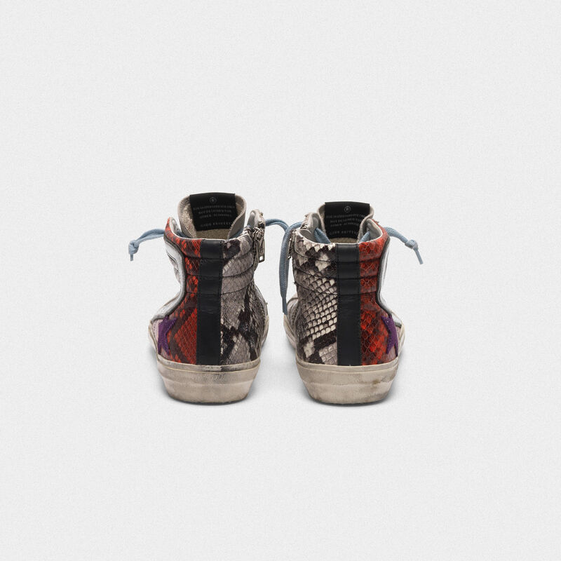 Golden Goose - Slide sneakers with multi-coloured snakeskin print  in  image number null
