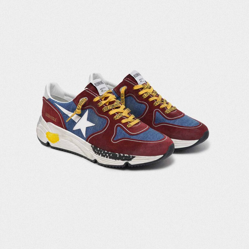 Golden Goose - Burgundy and blue Running Sole in  image number null