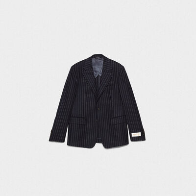 Venice single-breasted jacket with pin striped pattern