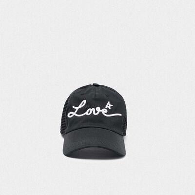 Cappello da baseball Sam con ricamo Love