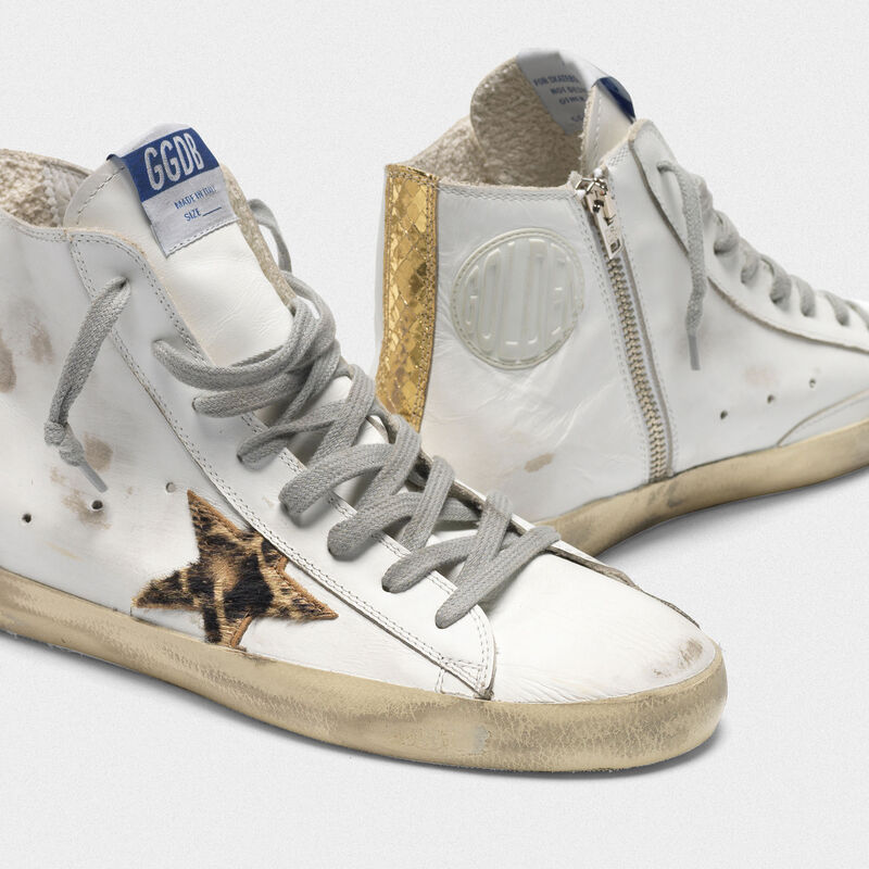 Golden Goose - Sneakers Francy con stella GGDB in cavallino stampa leopardata in  image number null