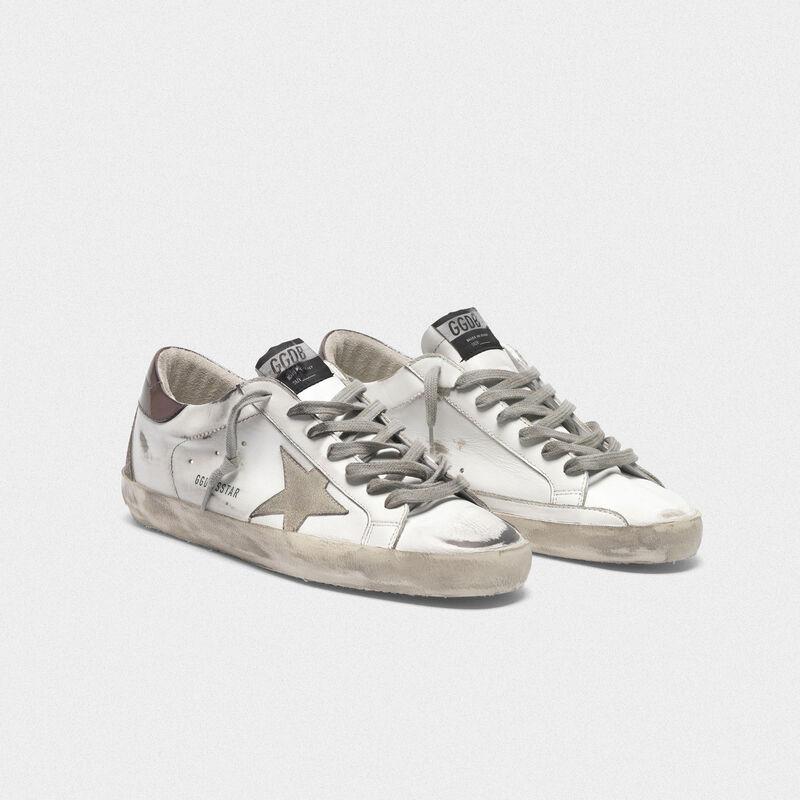 Golden Goose - Sneakers Superstar con talloncino viola metallizzato in  image number null