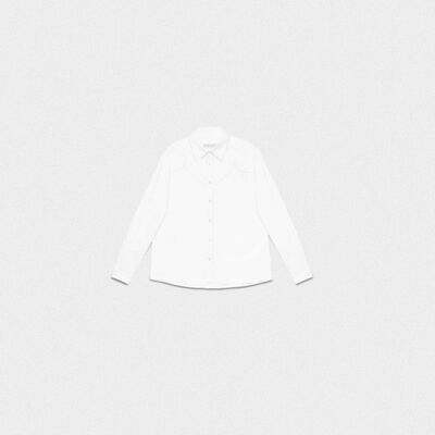 White Madelyn shirt in cotton poplin