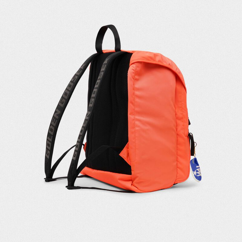 Golden Goose - Fluorescent orange nylon Journey backpack in  image number null