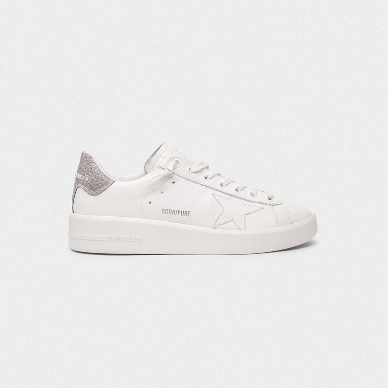 Golden Goose - Sneakers PURESTAR talloncino glitter argento in  image number null