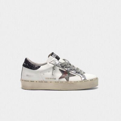 Sneakers Hi Star con stella camouflage e talloncino glitter