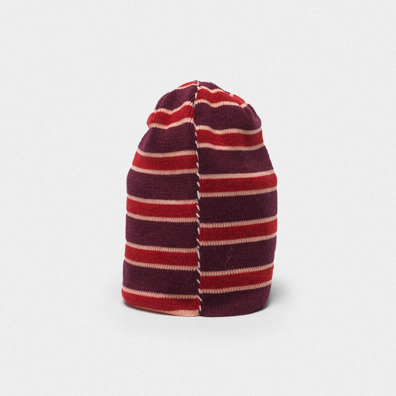 Golden Goose - Kyoko wool beanie with stripes in  image number null