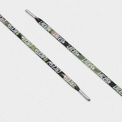 Lacci donna mimetici verdi con stampa laces bianca