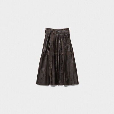 Akemi leather skirt