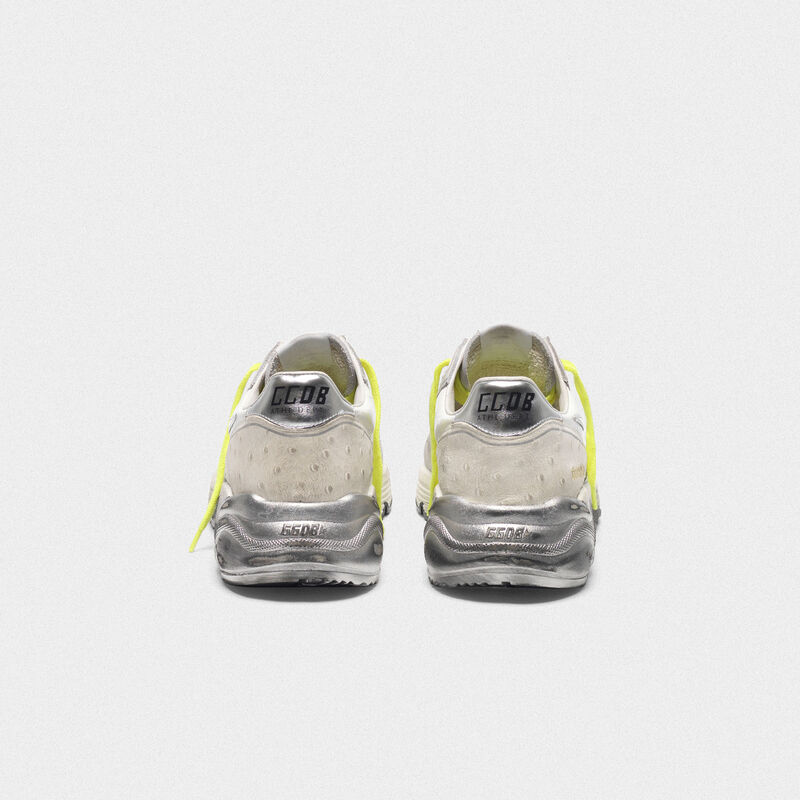 Golden Goose - Sneakers Running Sole bianche patchwork con stella argento in  image number null