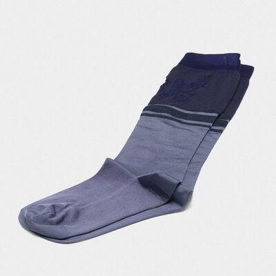 Turquoise Addison socks with jacquard pattern