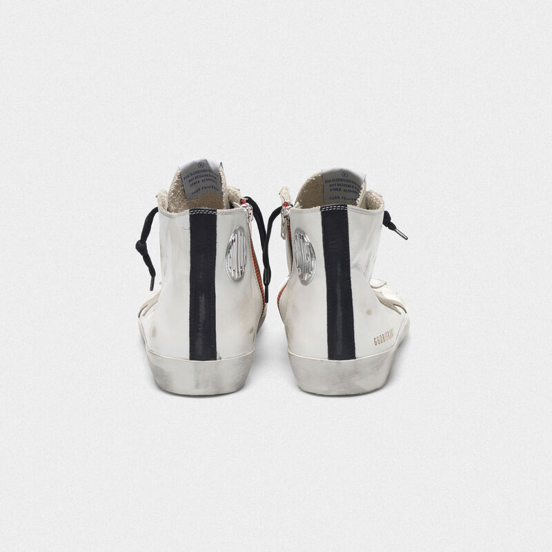 Golden Goose - Francy sneakers in leather with suede star and blue sole in  image number null