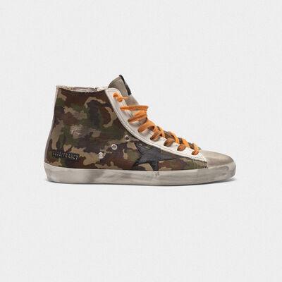 Sneakers Francy con motivo camouflage pixel