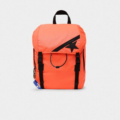 Zaino Journey in nylon arancio fluo