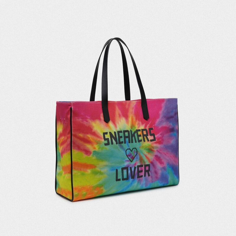 Golden Goose - Borsa California East-West tie-dye con stampa Sneakers Lover in  image number null