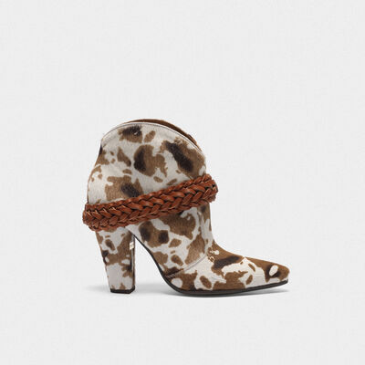 Low cow-print Michelle ankle boots