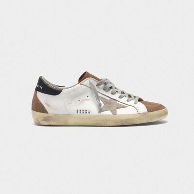 Superstar sneakers in leather with suede insert