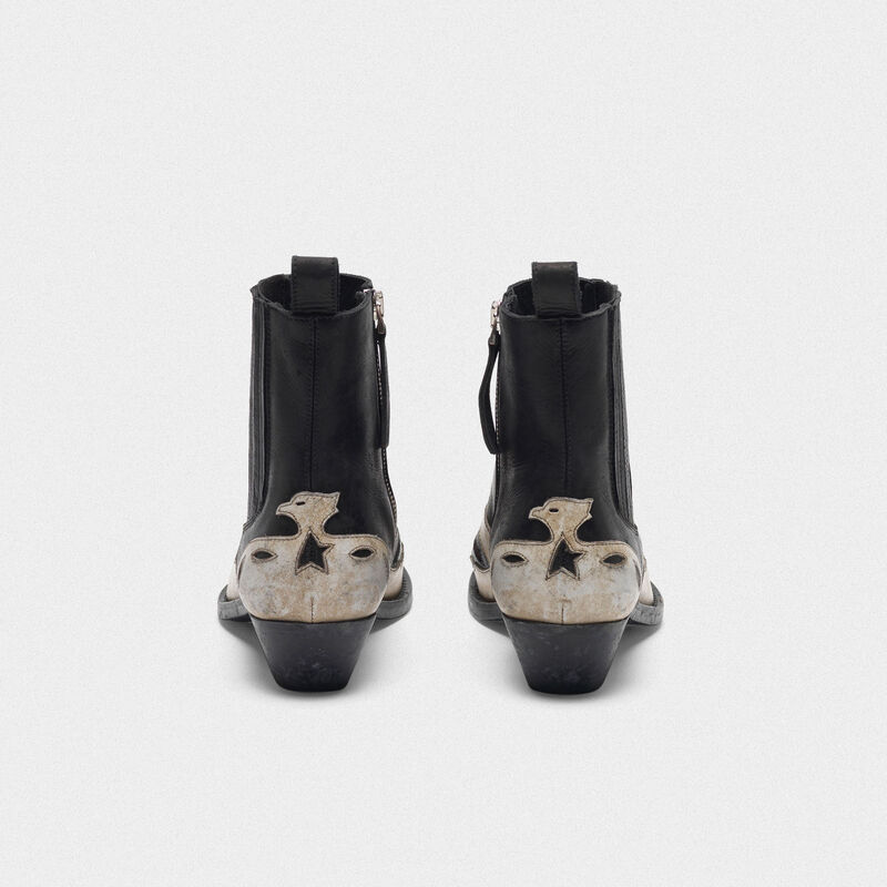 Golden Goose - Black and white Santiago ankle boots   in  image number null