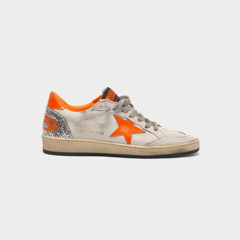 Golden Goose - Ball Star sneakers with fluorescent details and glittery back in  image number null