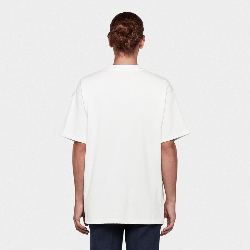 Golden Goose - Ryo T-shirt in pure cotton with logo print in  image number null