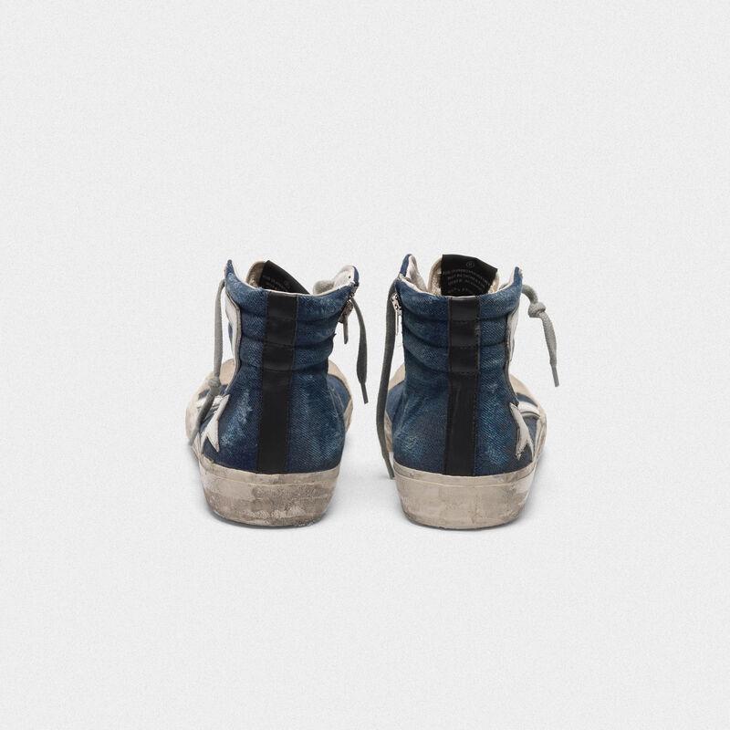 Golden Goose - Slide sneakers in suede and denim in  image number null