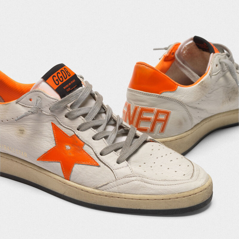 Golden Goose - Sneakers Ball Star in pelle con dettagli e fodera interna fluo in  image number null