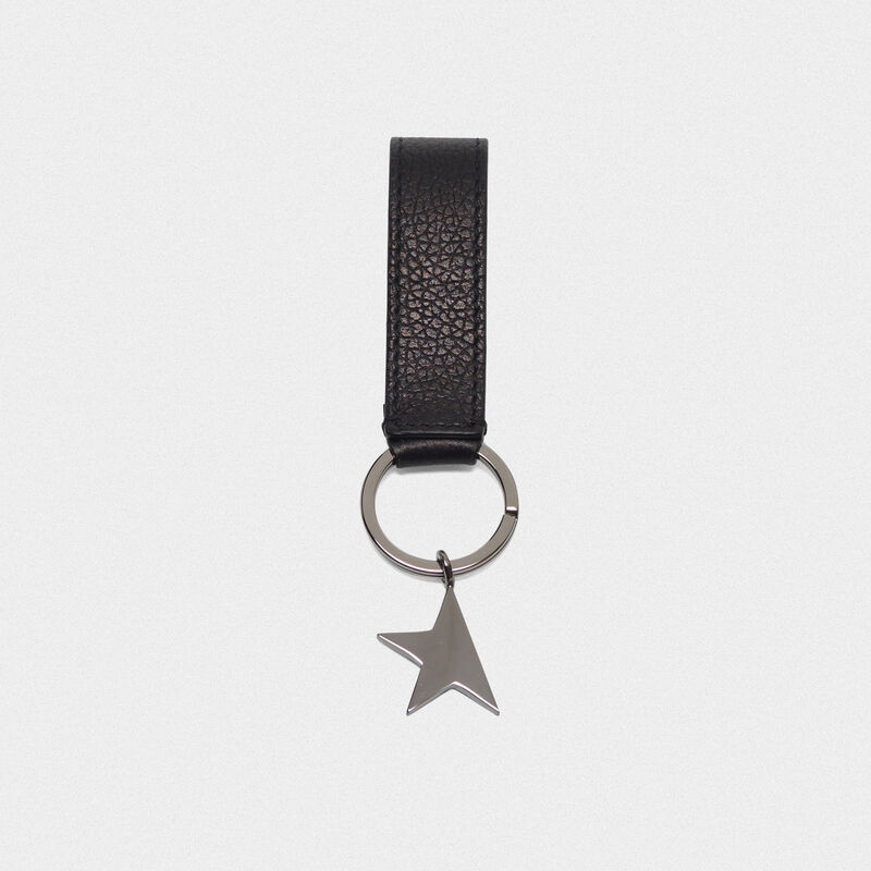 Golden Goose - Black Star Keyring with silver pendant in  image number null