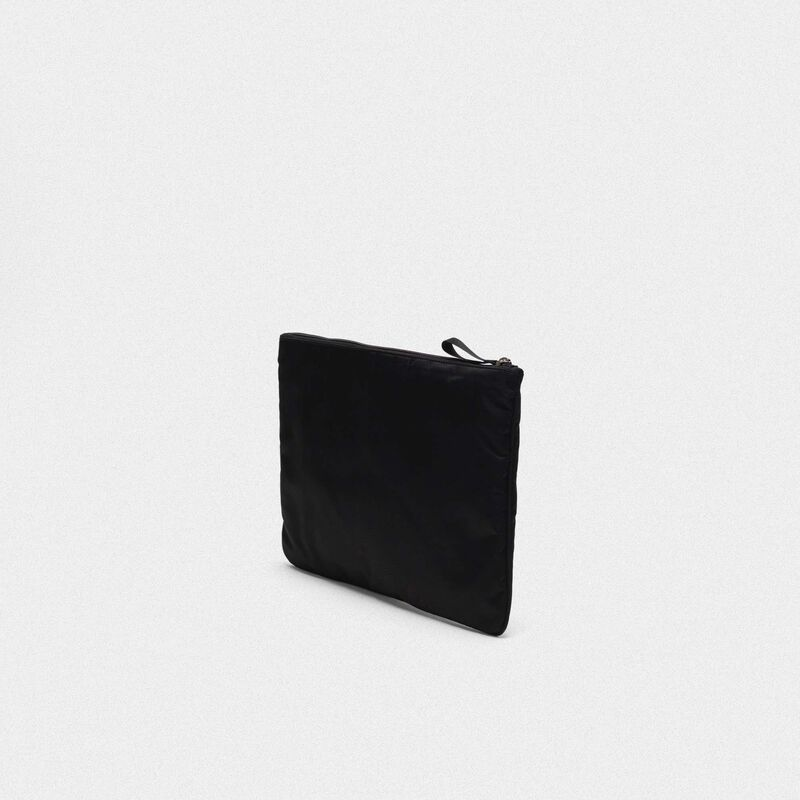 Golden Goose - Large black nylon Journey pouch in  image number null