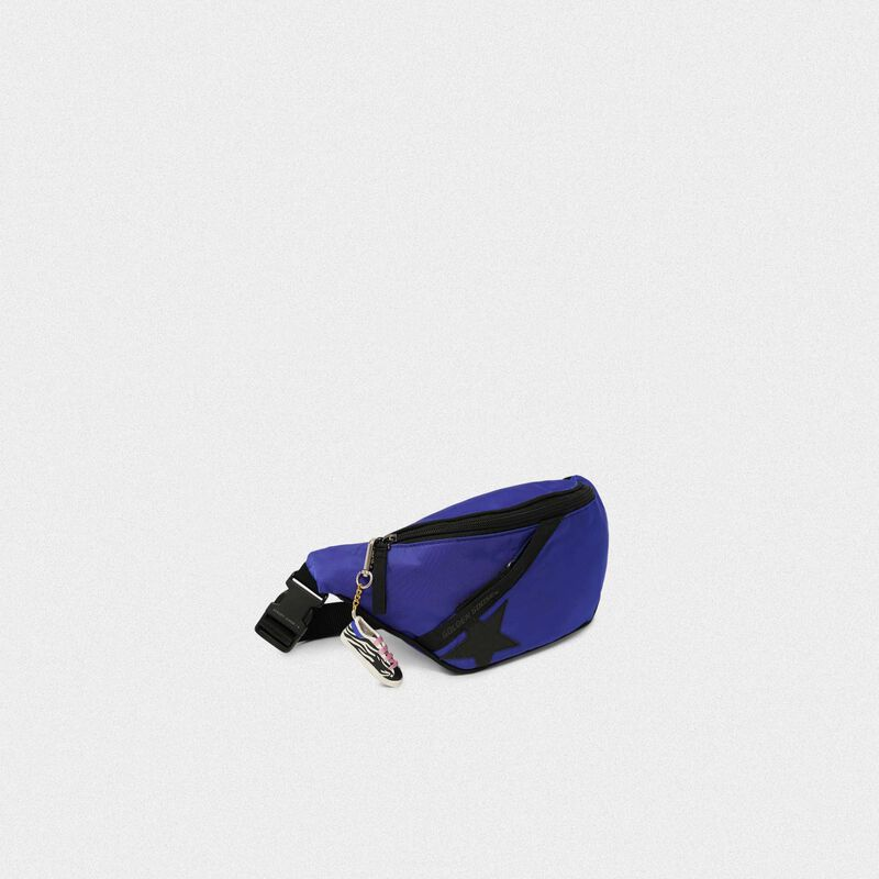 Golden Goose - Royal blue nylon Journey belt bag in  image number null