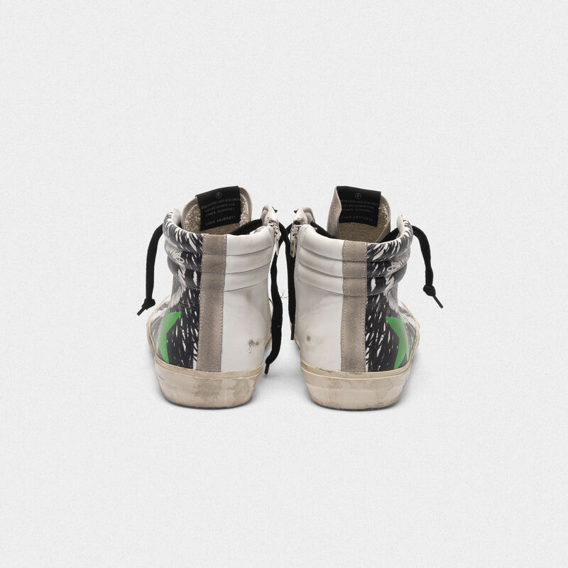 Golden Goose - Sneakers Slide in pelle e suede con stampa grafica in  image number null