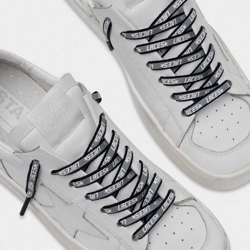 Golden Goose - Men's blue reflective laces with laces print in  image number null