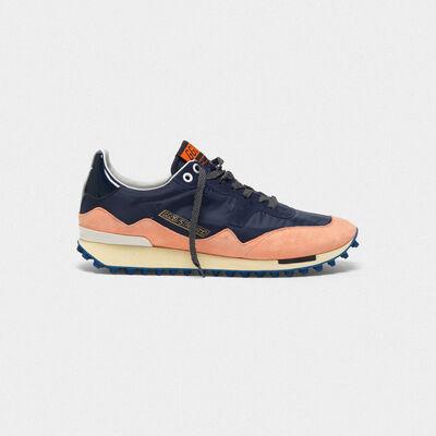 Sneakers Starland in nylon con talloncino in pelle lucida