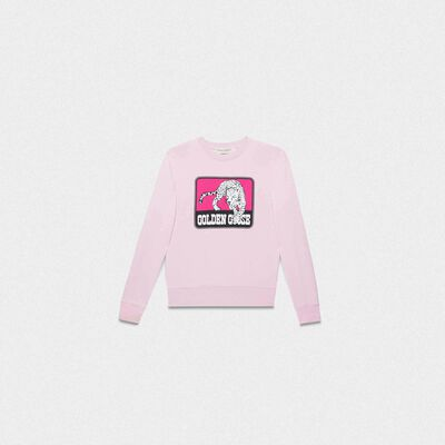 Pink Catarina sweatshirt with jaguar print