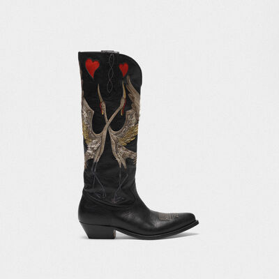 Wish Star ankle boots with love cranes decoration