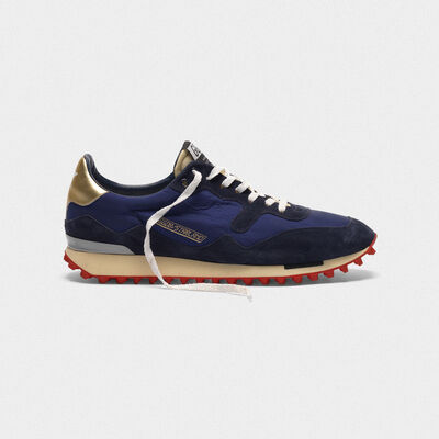 Starland sneakers in nylon with suede inserts