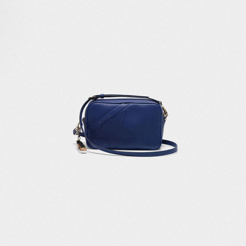 Golden Goose - Borsa Star Bag blu  a tracolla in pelle granata in  image number null