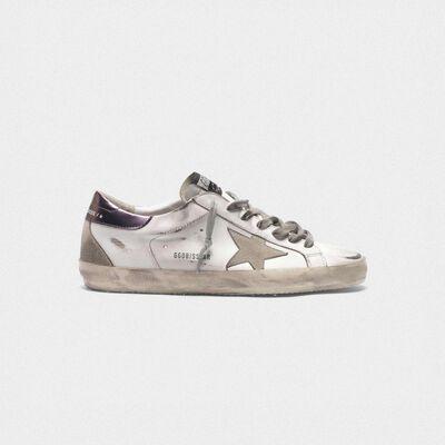Superstar sneakers with purple metallic heel tab